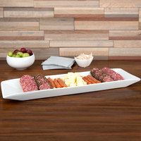 Cal-Mil PP151 Gourmet Display 20 inch x 5 inch Long Rectangular Porcelain Platter