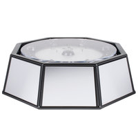 Cal-Mil IP501-220 24 inch x 14 inch Rotating Ice Carving Mirror Pedestal with Drainage Hose and 220V LED Lighting