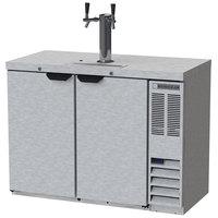 Beverage-Air DD48HC-1-S Double Tap Kegerator Beer Dispenser - Stainless Steel, (2) 1/2 Keg Capacity