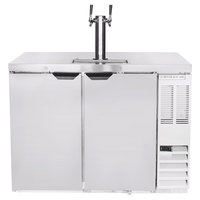 Beverage-Air DD48HC-1-S Double Tap Kegerator Beer Dispenser - Stainless Steel, (2) 1/2 Keg Capacity