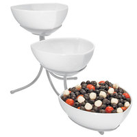 Cal-Mil SR402-39 Platinum Three Tier Incline Display with Melamine Bowls - 12 inch x 24 inch x 14 inch