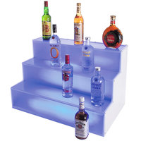 Cal-Mil LQ31 3 Step Bottle Display with LED Light - 18 inch x 30 inch x 18 inch