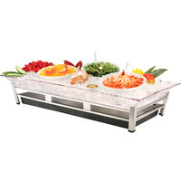 Cal-Mil IP2020-39 Large Ultimate Platinum Ice Housing System with Ice Pan, Water Contaminant Unit, and LED Lighting - 24 inch x 48 inch x 10 inch