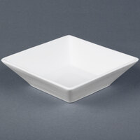 Cal-Mil PP250 Deep Square Porcelain Bowl - 7 inch x 7 inch x 3 inch