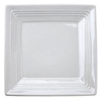 Tuxton CWH-0845 Concentrix 8 1/2 inch White Square China Plate - 12 / Case