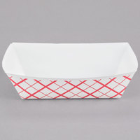 Southern Champion 421 #250 2.5 lb. Red Check Paper Food Tray - 500/Case