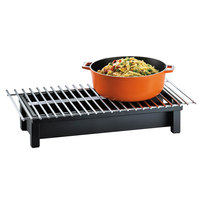 Cal-Mil 1348-22-13 One by One Black Chafer Griddle - 22 inch x 12 inch x 4 inch
