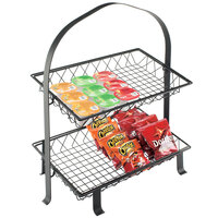 Cal-Mil 1593-12-13 Black Basket for 1584-12 Soho Two Tier Merchandiser - 20 1/4 inch x 12 inch x 2 1/4 inch