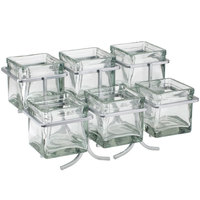 Cal-Mil 1809-39 Iron Two Tier Six Jar Platinum Wire Display - 14 inch x 9 inch x 7 inch