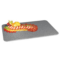 Cal-Mil SS353-30 Gourmet Display 35 inch x 19 inch Gray Rectangular Simulated Stone Acrylic Tray