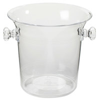 Cal-Mil 694 Clear Acrylic Large Ice Bucket / Wine Cooler - 8 inch x 8 1/2 inch x 8 inch