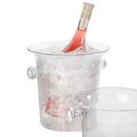 Cal-Mil 694 4.25 Qt. Clear Acrylic Large Ice Bucket / Wine Cooler - 8 inch x 8 1/2 inch x 8 inch
