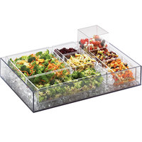 Cal-Mil 1398-12 Cater Choice System Clear Ice Housing with Drain Kit - 32 inch x 24 inch x 4 1/4 inch