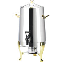 Cal-Mil 1009 4 Gallon Stainless Steel Coffee Urn with Gold Accents