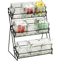 Cal-Mil 1812-13 Iron Three Tier Black Nine Jar Display - 13 inch x 9 1/2 inch x 17 1/2 inch