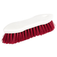 Carlisle 4549405 8 inch Red Sparta Spectrum Pointed End Scrub Brush