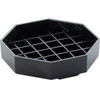 Cal-Mil 308-4-13 Classic 4 inch Black Octagonal Drip Tray