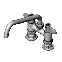 Equip by T&S 5F-4DLS08 8 inch Deck Mount Swing Faucet with 4 inch Adjustable Centers