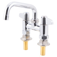 Equip by T&S 5F-4DLS06 6 inch Deck Mount Swing Faucet with 4 inch Adjustable Centers