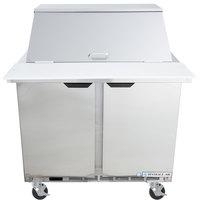 Beverage-Air SPE36HC-12M Elite Series 36 inch 2 Door Mega Top Refrigerated Sandwich Prep Table