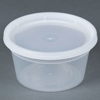 Newspring DELItainer YL2512 12 oz. Translucent Round Deli Container Combo Pack - 240/Case
