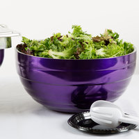 Vollrath 4656965 Double Wall Round Beehive 10 Qt. Serving Bowl - Passion Purple