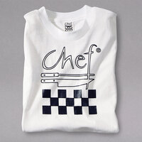 Chef Revival Size XXL White Cotton Chef Logo T-Shirt