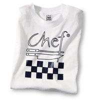 Chef Revival TS001-XXL Chef Logo White T-Shirt - Cotton Size XXL