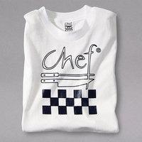 Chef Revival Size XL White Cotton Chef Logo T-Shirt