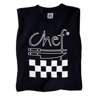 Chef Revival TS002-L Chef Logo Black T-Shirt - Cotton Size L