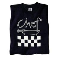 Chef Revival Size M Black Cotton Chef Logo T-Shirt
