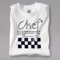 Chef Revival Size L White Cotton Chef Logo T-Shirt