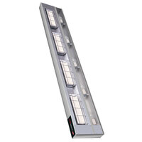 Hatco UGAHL-54 Ultra-Glo 54 inch High Watt Ceramic Infrared Strip Warmer with Lights - 2490W