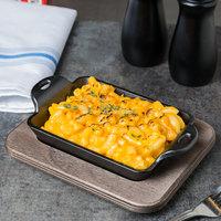 Lodge HMSRC 10 oz. Pre-Seasoned Heat-Treated Mini Cast Iron Rectangular Casserole Dish