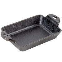 Lodge HMSRC 10 oz. Pre-Seasoned Heat-Treated Cast Iron Rectangular Mini Server