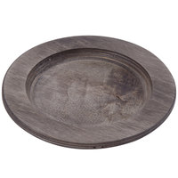 Lodge U3RP 8 inch Round Wood Underliner for 6 1/2 inch Skillet and Round Mini Server