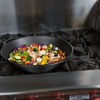 Lodge L14SK3 15 1/4 inch Pre-Seasoned Cast Iron Skillet with Helper Handle