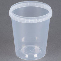 32 oz. Clear Tamper Evident Safe Lock Deli Container - 250/Case