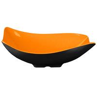 GET ML-219-OR/BK Brasilia 1.9 Qt. Orange and Black Flare Melamine Bowl - 3/Case