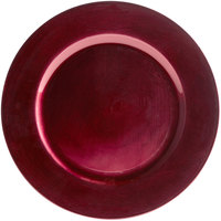 Tabletop Classics by Walco TRRB-6651 13 inch Raspberry Round Plastic Charger Plate