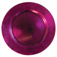 Tabletop Classics TRRB-6651 13 inch Raspberry Round Polypropylene Charger Plate