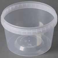 16 oz. Clear Tamper Evident Safe Lock Deli Container - 25/Pack