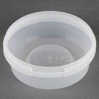 8 oz. Clear Tamper Evident Safe Lock Deli Container - 25 / Pack