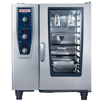 Rational CombiMaster Plus Model 101 A119206.27E202 Combi Oven with Ten Half Size Sheet Pan Capacity - Natural Gas