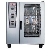 Rational CombiMaster Plus Model 101 A119206.27E202 Combi Oven with Ten Half Size Sheet Pan Capacity - Natural Gas