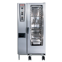 Rational CombiMaster Plus Model 201 A219206.27E202 Combi Oven with Twenty Half Size Sheet Pan Capacity - Natural Gas