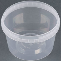16 oz. Clear Tamper Evident Safe Lock Deli Container with Lid - 50/Case
