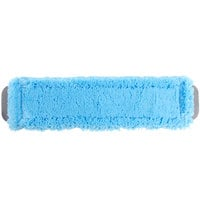 Unger MM40B SmartColor MicroMop 15.0 16 inch Blue Wet / Dry Mop Pad