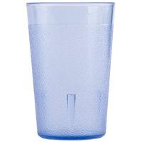 9.5 oz. Blue SAN Plastic Pebbled Tumbler - 12/Pack