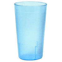 9 oz. Blue Stackable Pebbled Plastic Tumbler - 12/Pack